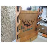 Wood 4-Gun Rack with Lower Storage ...