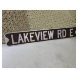 "Reflective Metal Street Sign 36"" x ..."