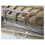 Metal Old School Horseshoe Set in W...