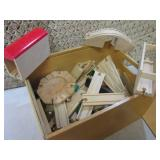 Vintage Wood Train Set with Large A...
