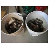 2 Buckets of Assorted Vintage Insul...