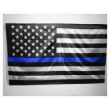 3 ft x 5 ft Blue Line American Flag...