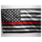 3 ft x 5 ft Red Line American Flag ...