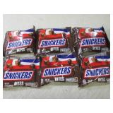 6 Bags of Snickers Bites Best by Se...