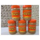 5 Jars of Creamy Reeses Peanut Butt...