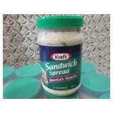 12 Jars of Kraft Sandwich Spread Be...