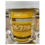 SOUTHWIRE Lot of Five- 250 ft. 16/2 White Stranded CU SPT-2 Lamp Wire