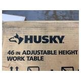 HUSKY 46 in. Adjustable Height Work Table