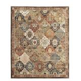 HOME DECORATORS COLLECTION Patchwork Multi 8 ft. x 10 ft. Medallion Area Rug