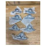 STEELTEK Lot of Seven- 1-1/4-in Silver Structural Pipe Fitting Offset Flange