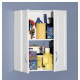 CLOSETMAID 30 in. H x 24 in. W x 12 in. D White Raised Panel Wall Mounted Cabinet Storage