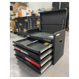 HUSKY 26 in. W 5-Drawer Tool Chest in Textured Black (no key mechanism)