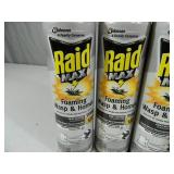 4 New Cans of Raid Max Foaming Wasp and Hornet
