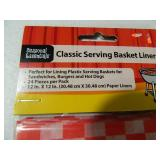 8 New Serving Baskets and 4 New Packs of Basket Liners