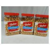 6 lbs 12 oz of Fisher Sea Salt Peanuts