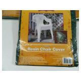 5 New Resin 4 Stack Chair Covers
