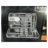 New 18 Piece BBQ Tool Set in Case