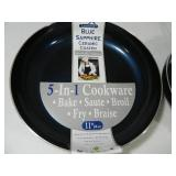 3 New Blue Sapphire Ceramic Coated Fry Pans