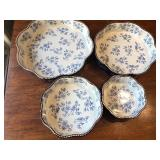 Set of Four Ovenware Round Fluted Edge Pieces by Temptations
