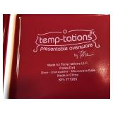 Square Covered Temptations Dish in Red
