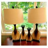 Matching Lamps and Candleholders Set