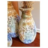 Trio Of Matching Decorative Pottery