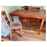 Butterfly Leaf Center Height Table And Chairs