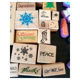 Large Lot Of Wood Crafting Stamps!