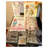 Huge Lot Of Rubber Stamps!