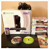 Xbox 360 Kinect Game Console With Games