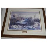 """Vintage """"Frosted Memories"""" Framed Painting  25/50"""