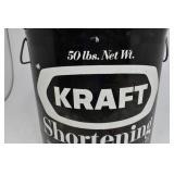 Vintage Kraft Black Shortening Can