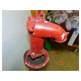 Vintage Hand Red Water Pump w/Stand