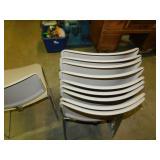 10 Hard Plastic/Metal Chairs