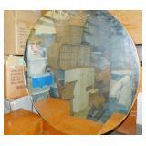 Antique Dresser with Round Mirror