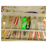Plano Tackle Box with Fishing Accessories Inside