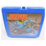 Vintage Aladdin Stanley Thermos / Plastic Batman Lunch Box and Thermos
