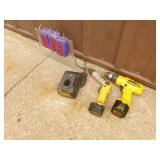 Dewalt 9.6 volt drill & screwdriver with 2 batteries & charger. Tested & works. As shown.
