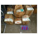 Qty of 6 boxes Simpson deck/rafter hangers. All boxes full or nearly full. One money. As shown.