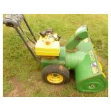 John Deere 1032 Snow blower. Tested & works. Needs carb cover & a little tlc. As shown.