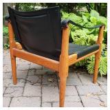 BROWN SALTMAN Mid-Century Danish Leather Sling Chair