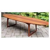 M.M. MOREDDI Danish Teak Surfboard Coffee Table