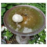 Charming Copper Pedestal Bird Bath