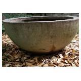 Heavy Concrete Bowl Planter