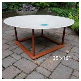 Art Pottery Ceramic Saucer Coffee Table
