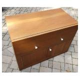 Mid Century Pine Turntable Cabinet