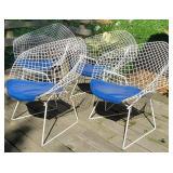 Vintage BERTORIA Diamond Chairs
