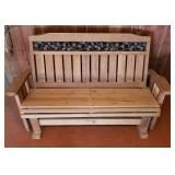 Frontier Furnishings Wooden Porch Glider