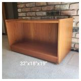Teak Two Sided Entertainment Table