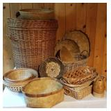 Open Wicker Basket Collection, Lot of 15